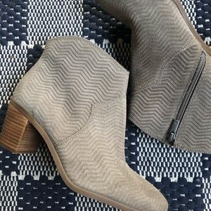 Lucky Brand | Paise taupe grey gray ankle booties